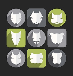 Dog icons in flat style vector image vector image