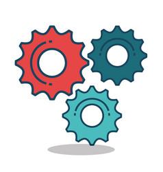gear settings setup icon vector image
