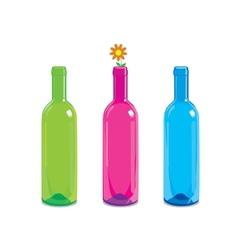glass bottle vector image