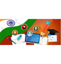 india education school university concept with vector image vector image