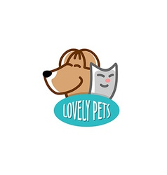Pets shop logo template vector image vector image