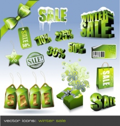 winter sale sign vector image