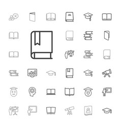 33 learning icons vector
