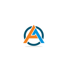 a initial shape company logo vector image