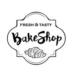 A signboard a logo a template for a bakeshop a vector