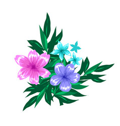 Abstract floral compostion arrangment isolated on vector