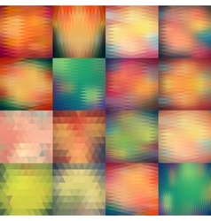 Abstract triangle pattern set Geometric vector image