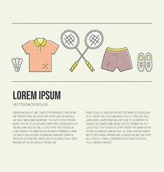 Badminton Concept vector