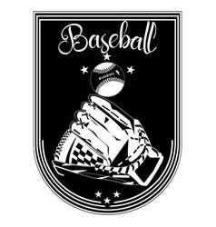 baseball sport emblem badge template vector image