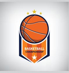 basketball championship logo vector image