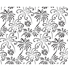black and white seamless pattern with hand drawn vector image
