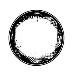 black circle grunge race frame vector image