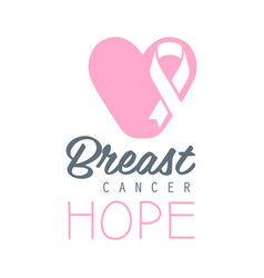 breast cancer hope label in vector image