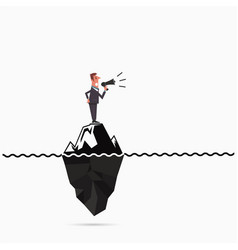 Businessman announce the risk analysis iceberg vector