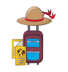 Cabin bag with brown hat vector