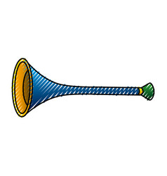 Carnival trumpet isolated icon vector
