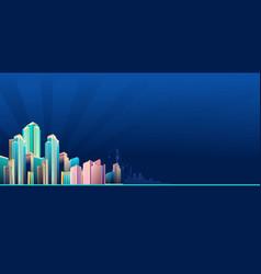 City street buildings skyline view vector