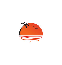 coconut tree icon logo design template vector image