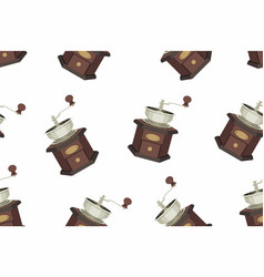 Coffee grinder seamless pattern vector