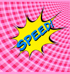 comic speed colorful background vector image