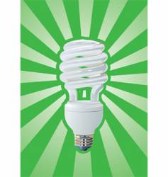 compact fluorescent vector image