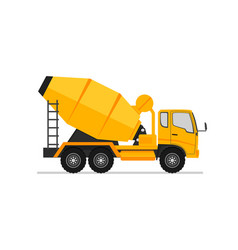 Concrete truck icon mixer cement truck side view vector