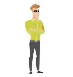 Confident businessman in sunglasses vector