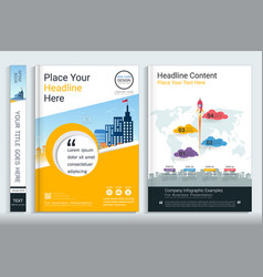 cover book design template vector image