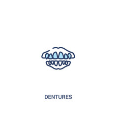 dentures concept 2 colored icon simple line vector image