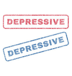 depressive textile stamps vector image