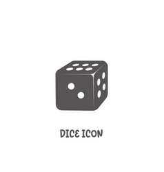 dice icon simple flat style vector image
