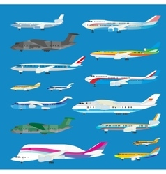 Different airplane aircraft set Personal airplane vector image