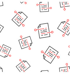 document paper icon seamless pattern background vector image