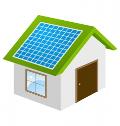 Eco house concept vector