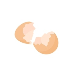 Eggshell icon in cartoon style vector