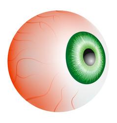 Eyeball blood mockup realistic style vector