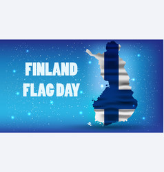 Finnish flag day realistic national background vector