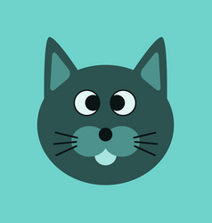 Flat icon on background pet cat vector