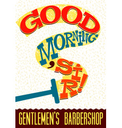 Funny typographical retro barbershop poster vector