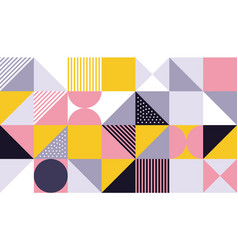 geometric pattern abstract color design vector image