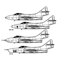 Grumman f9f cougar vector