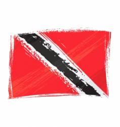 grunge trinidad and tobago flag vector image vector image