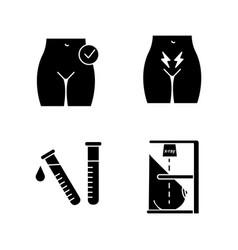 Gynecology glyph icons set vector