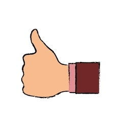 Hand like thumb up vector