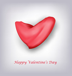 happy valentines with red heart card background vector image