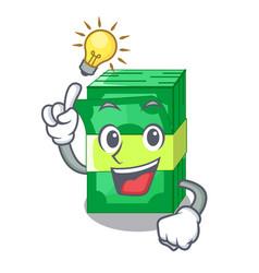Have an idea set money in packing bundles cartoon vector