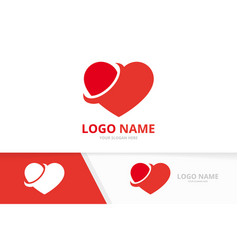 heart logo design template valentines day vector image