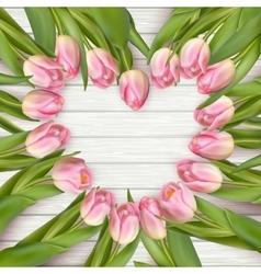 Heart shaped tulips EPS 10 vector