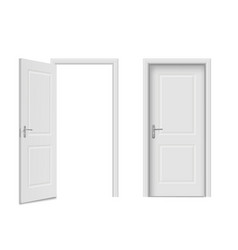 home doors set front entry and indoor objects vector image