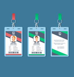 Id card corporate event staff badges identity vector